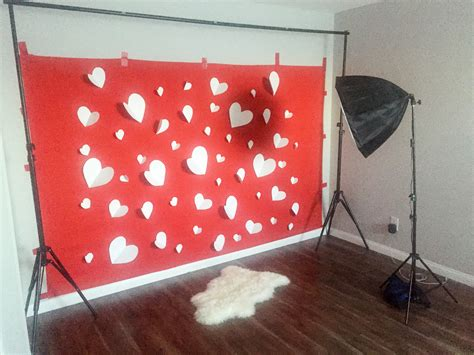 s day photography backdrops diy valentines photo backdrop design by numbers