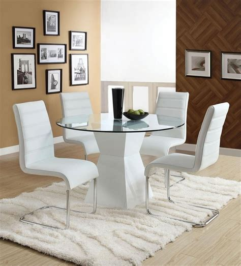 Modern Round Dining Table Wood Decorating Dining Room With Small Circular Dining Table And Chairs