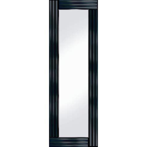 black mirror length full length black glass triple frame mirror 120 x 40 cm