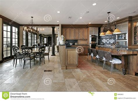 luxury country kitchens country kitchen in luxury home stock photography image