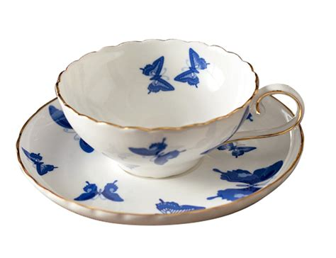 set coffee cup saucer jsaron porcelain blue butterfly tea coffee cup with spoon