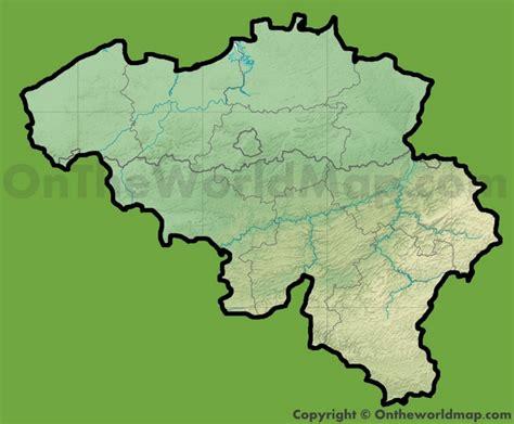 belgium geographical map belgium physical map