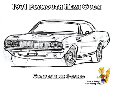 coloring pencil of muscle cars coloring pages