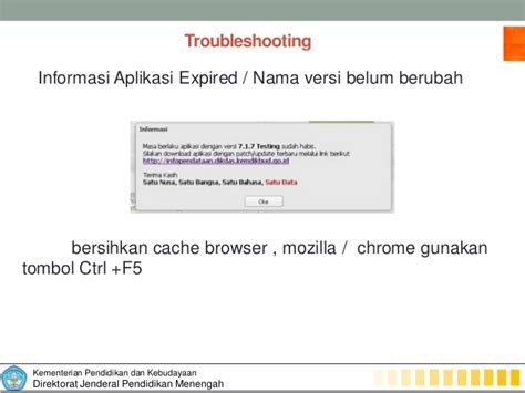 mengatasi aplikasi dapodik expired services education tips triks troubleshooting dapodikmen
