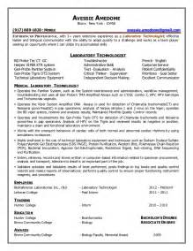 Laboratory Assistant Sle Resume by Laboratory Technician Resume
