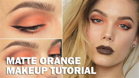 Eyeliner Tutorial Linda Hallberg | matte orange with subs linda hallberg makeup tutorials