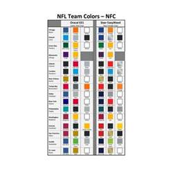 nfl team colors chart nfl kit nfc teams heat transfer vinyl 12 quot x15 quot
