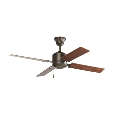 progress ceiling fan without light in antique bronze