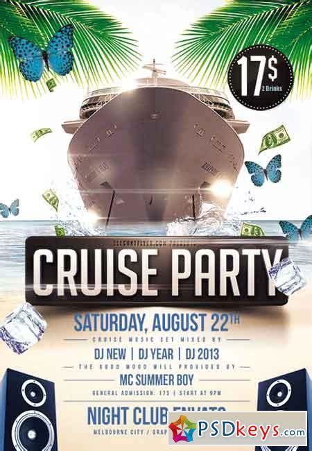 Cruise Party Flyer Psd Template Facebook Cover 187 Free Download Photoshop Vector Stock Image Free Boat Flyer Template