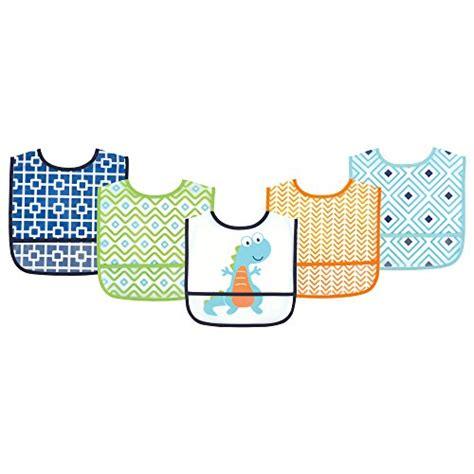 luvable friends waterproof bib 5 pack dino baby toddler nursing feeding bibs