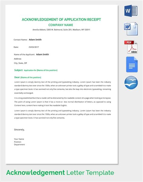 Receipt Template App 23 Acknowledgement Of Service Form Templates To Download Sle Templates
