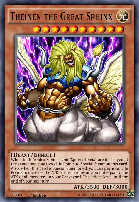 yugioh sphinx deck theinen the great sphinx anime by septimoangel12 on