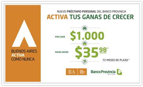 creditos personales banco provincia prestamos personales banco provincia bs as prestamos