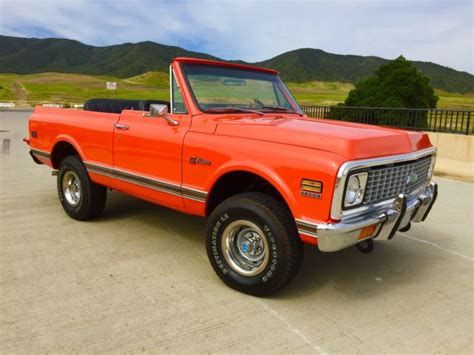 Driver Blazer X10 1972 chevrolet blazer k5 orange turn key 1969 1970 1971 chevy blazer no reserve