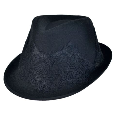 Fedora Hats scala lace hatband fedora hat casual hats