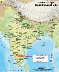 golden triangle map golden triangle tour of india india travel guide