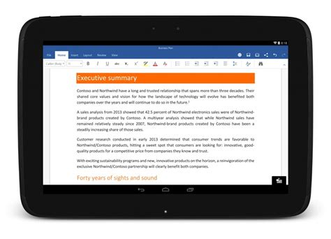 word viewer for android microsoft apps now available on samsung lg and sony tablets
