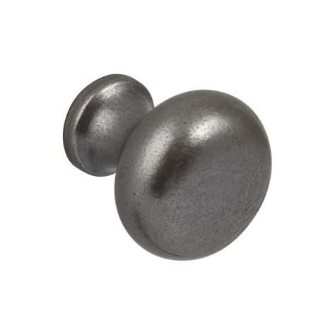 35mm cast iron door knob pewter or black finish handmade