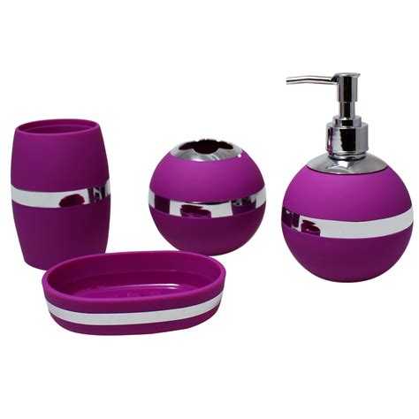 purple bathroom sets purple bathroom accessories sets design cool ideas for home