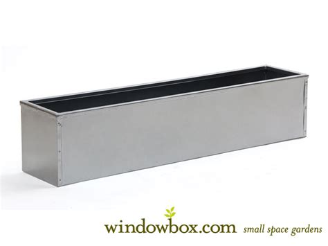 Metal Window Planter by 24in Metal Window Box Liner Silver Tone Finish