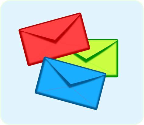 colored envelopes colored envelopes clip at clker vector clip