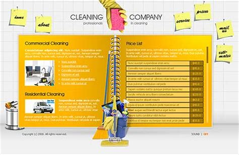 Cleaning Company Flash Template Best Website Templates Cleaning Service Website Template
