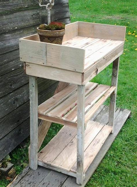 potting bench made from pallets diy potting bench made with pallets 101 pallets