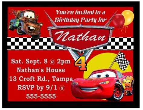 disney cars themed birthday invitations 9 magnetic disney cars birthday invitations magnets ebay
