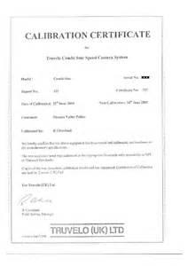 calibration certificate template certification safer roads