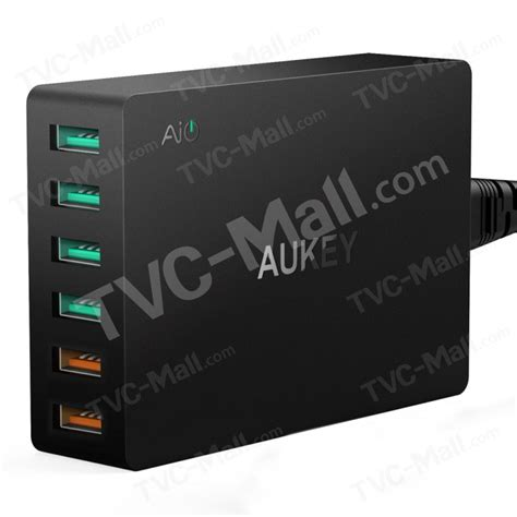 Aukey Usb Charger 6 Port With Dual Charge 30 Pa T11 aukey 6 port usb wall charger with dual charge 3 0 port pa t11 us tvc mall