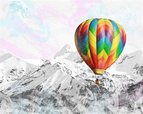 hot air balloon desktop 1280x1024 peaks colorful hot air balloon desktop pc and