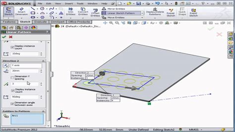 solidworks tutorial linear pattern solidworks tutorial lesson 24 linear sketch pattern