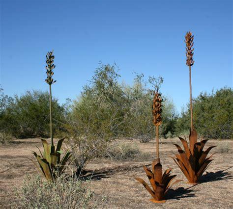 Art Gallery Pedestals Steel Cactus Sculptures Outdoor Landscape Steel