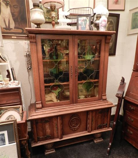 stuff for sale antique china cabinet with stained glass