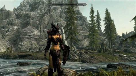 skyrim hot armor replacer skyrim daedric female armor replacer mod youtube