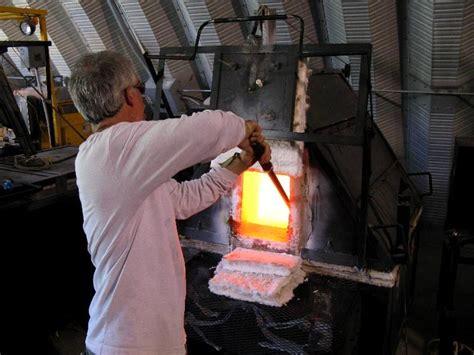studio glass furnace gathering glass from furnace mark a ellinger glass