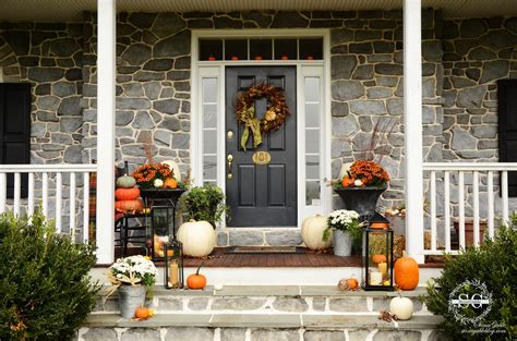 decorate front porch for fall fall on the front porch stonegable