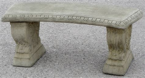 stone bench uk curved stone garden bench