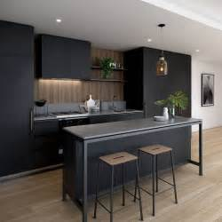 Small Modern Kitchen Interior Design Best 25 Black Kitchens Ideas On Kitchens Stainless Steel Kitchen Inspiration