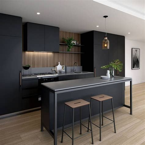 Modern Kitchen Design Best 25 Black Kitchens Ideas On Kitchens Stainless Steel Kitchen Inspiration
