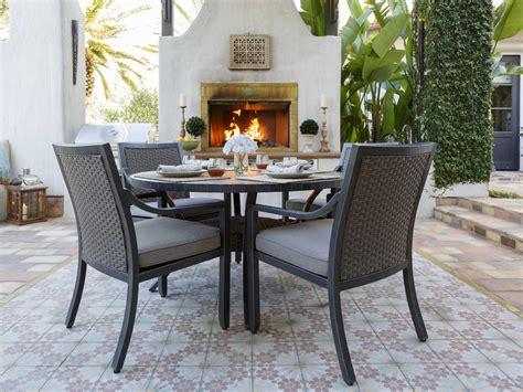 round slate dining sunvilla belize aluminum 54 round stone top dining