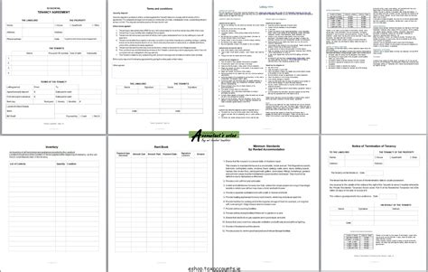 tax agreement template tenancy agreement template package accountant s e shop
