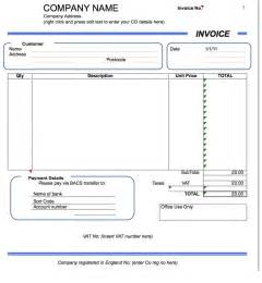 Template Microsoft Excel by Excel Invoice Template Document Templates