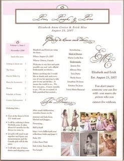 wedding newsletter template bridesmaids newsletter version 1 weddingbee