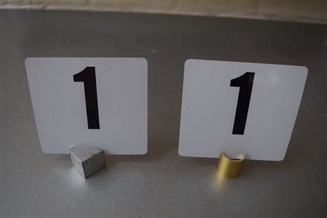 silver table number stands table number stands silver square or gold