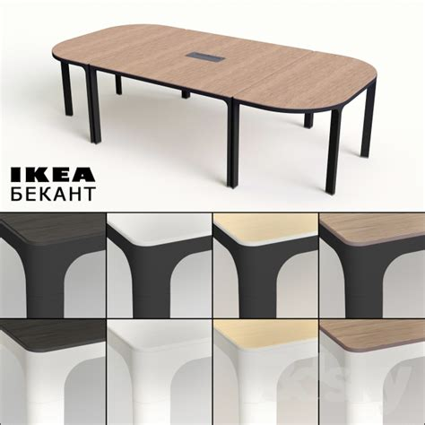 Ikea Bekant Conference Table 3d Models Office Furniture Conference Table Ikea Bekant