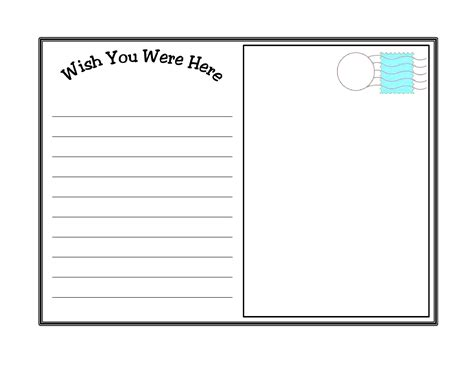10 Best Images Of Postcard Writing Template For Kids Printable Friendly Letter Template For Postcards Templates