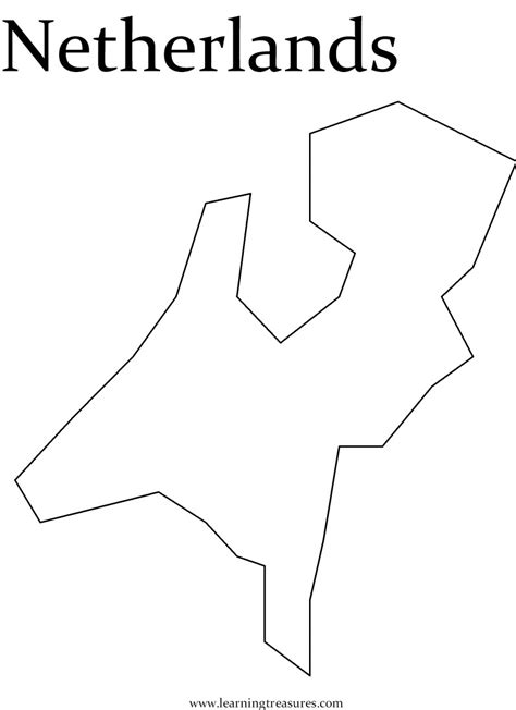 netherlands map outline outline of netherlands