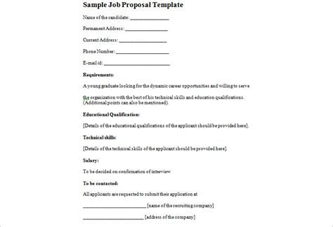 technical proposal template exle technical writing
