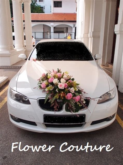 Behind the scene: Wedding Car Floral Decoration ? Rustic